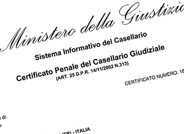 Casellario Giudiziale Penale