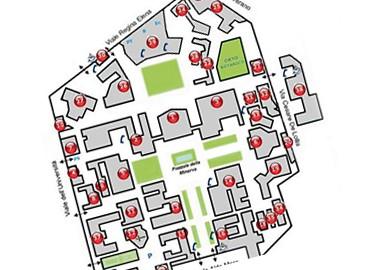 Mappa dell'edificio ed elaborato planimetrico