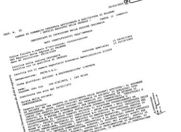 Certificato di vigenza